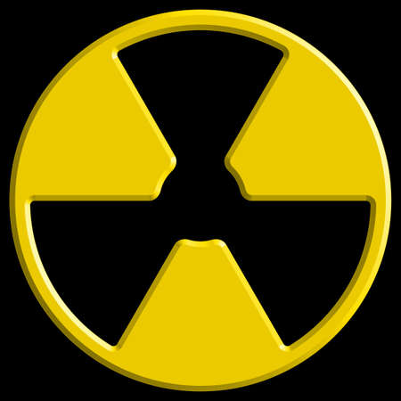 deterrent: Illustration of the abstract radiation symbol