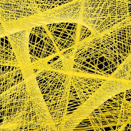 arbitrary: Modelo abstracto de las l�neas amarillas al azar sobre fondo negro