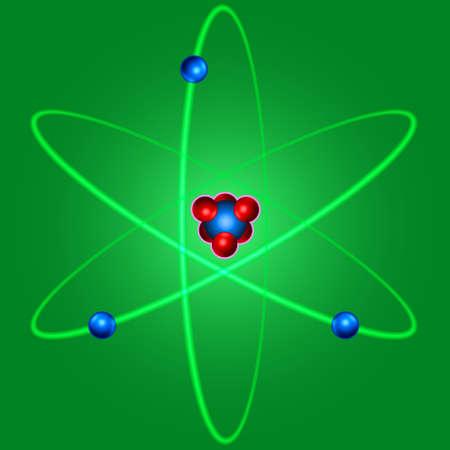 positron: Illustration of the abstract atom icon