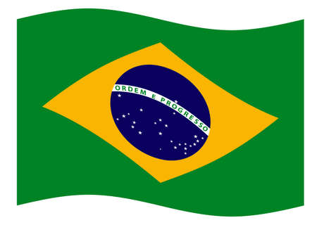 flapping: Illustration of the flapping Brazil flag Illustration