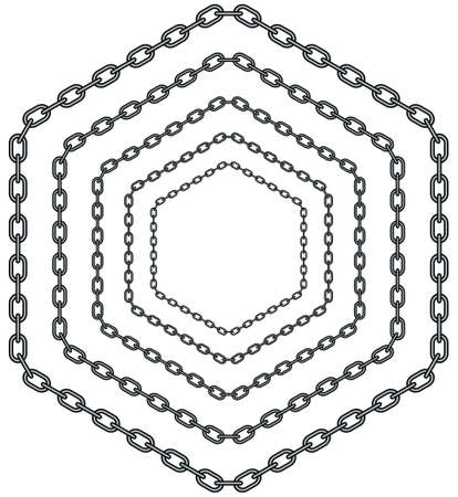 Illustration of the abstract hexagon chain pattern Illustration