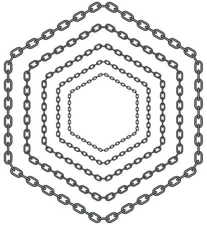 Illustration of the abstract hexagon chain pattern Illustration