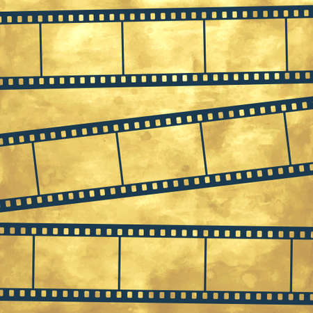 photo film: Illustration of the abstract film strips on vintage background Illustration