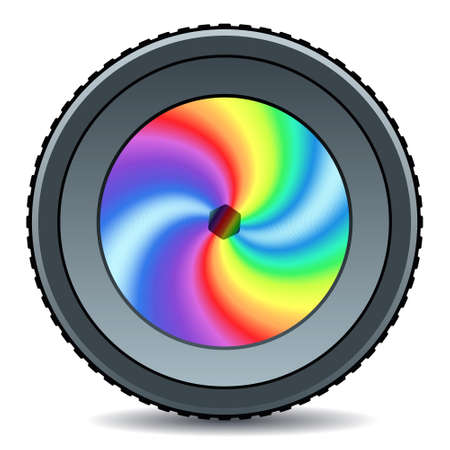 Illustration of the abstract camera lens icon