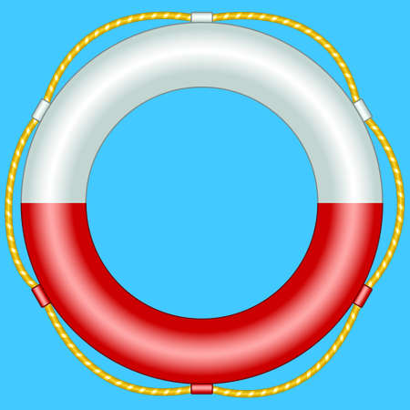 rescuing: Illustration of the life buoy Illustration