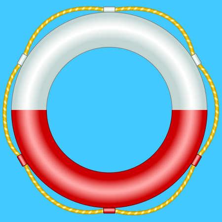pneumatic: Illustration of the life buoy Illustration