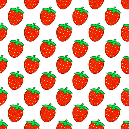 palatable: Seamless pattern of the strawberries background