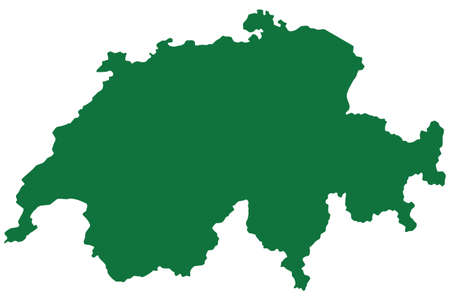 silhouette contour: Silhouette contour map of the Switzerland. Source of map:http:www.lib.utexas.edumapseuropeswitzerland.jpg http:www.lib.utexas.edumapseuropeswitzerland_admin_2000.jpg