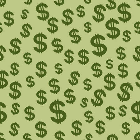 price gain: Seamless pattern of the US dollar symbols Illustration