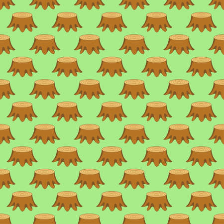 stumps: Seamless pattern of the tree stumps