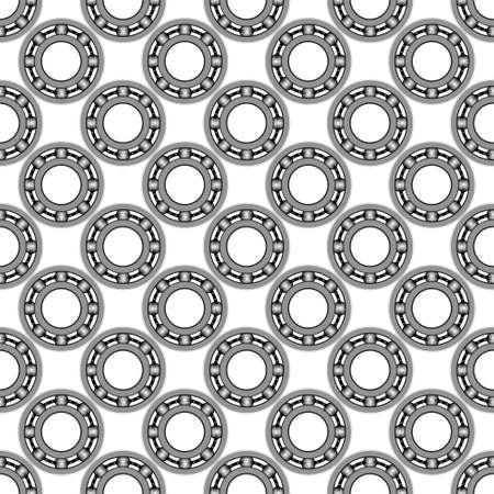 bearings: Seamless pattern of the ball bearings Illustration
