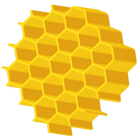 apiculture: Illustration of the abstract hexagonal honeycomb piece