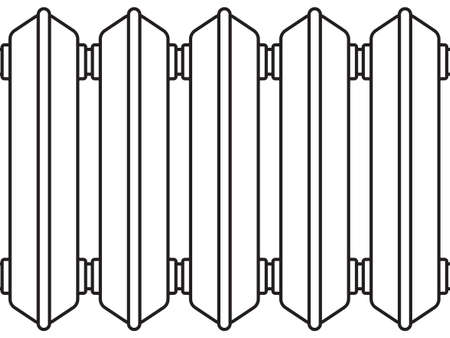 sanitaryware: Illustration of the radiator elements as seamless pattern