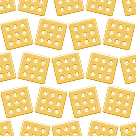 shortbread: Seamless pattern of the cookies icon