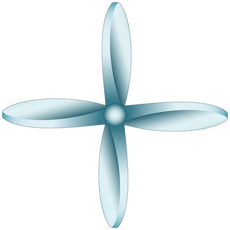 aspirator: Illustration of the quadrilobate propeller icon