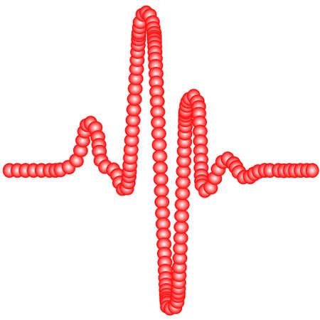 cardiogram: Illustration of the abstract cardiogram