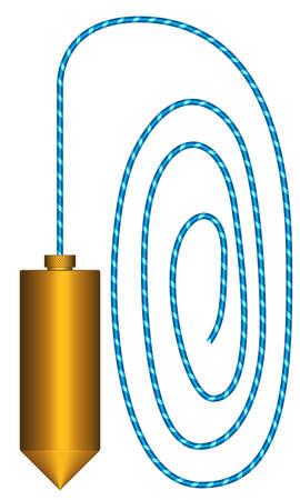 Illustration of the plumb tool icon Illustration