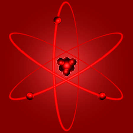 nucleus: Illustration of the abstract nucleus atom icon
