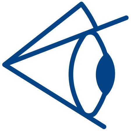 ojo humano: Ilustración del icono del ojo