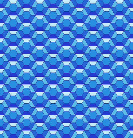 hexahedron: Seamless pattern of the abstract hexagonal crystals Illustration