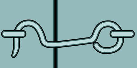 lock up: Illustration of the pawl icon Illustration
