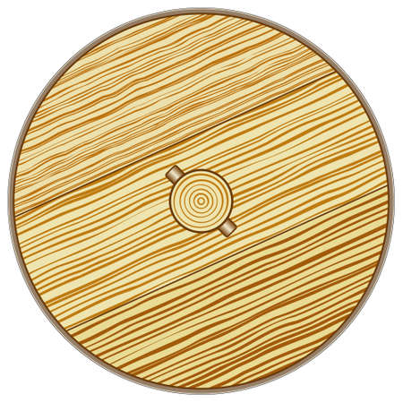 cartwheel: Illustration of the old rustic wooden wheel