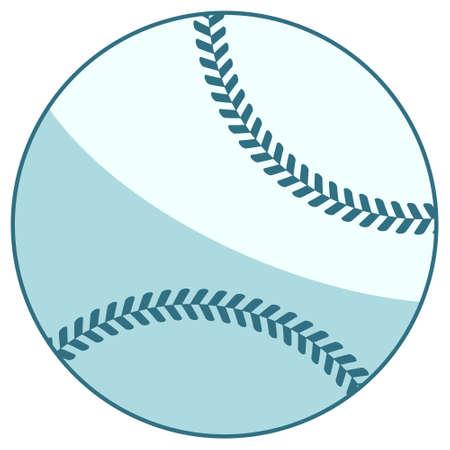 Illustration of the baseball ball icon