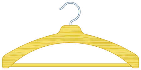 clothing rack: Illustration of the clothes hanger Illustration
