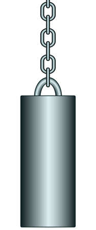 plumb: Illustration of the weight with chain Illustration
