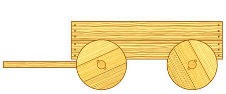 carting: Illustration of the rustic wooden cart Illustration