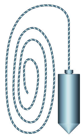 Illustration of the bricklaying plumb tool icon