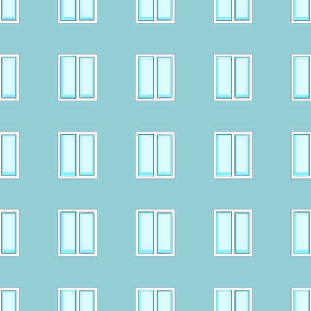 pane: Seamless pattern of the windows on wall background