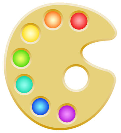 colouration: Illustration of the palette icon Illustration