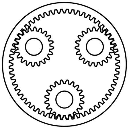 planetary: Illustration of the planetary gear transmission