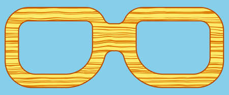spectacles: Illustration of the abstract wooden spectacles