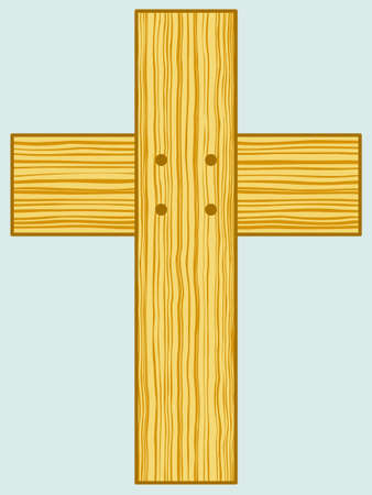 wooden cross: Illustration of the wooden cross