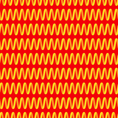 heat radiation: Seamless pattern of the glowing spiral heater