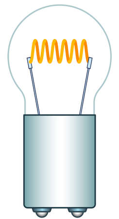 tungsten: Illustration of the car motorcycle mini light bulb