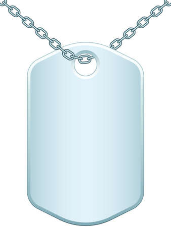 dogtag: Illustration of the dog tag badge icon Illustration