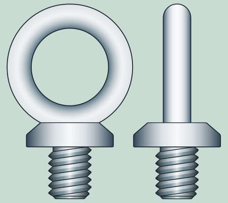 affixment: Illustration of the steel ringbolts Illustration