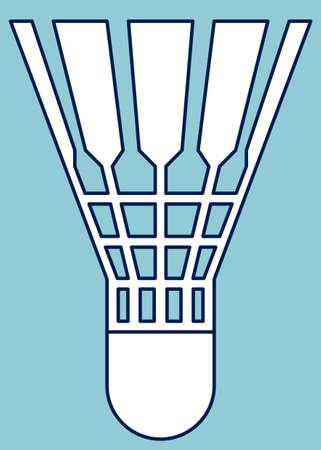 feathering: Illustration of the badminton shuttlecock icon