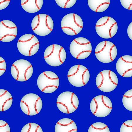 baseball: Seamless pattern of the baseball balls Illustration