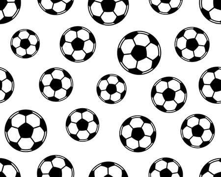 soccer goal: Seamless pattern of the football  soccer balls Illustration