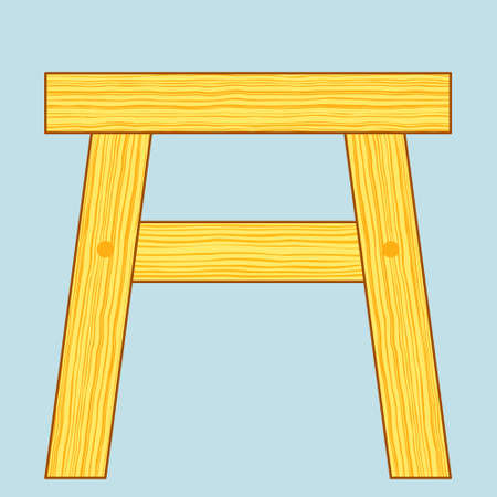 wooden stool: Illustration of the wooden stool icon