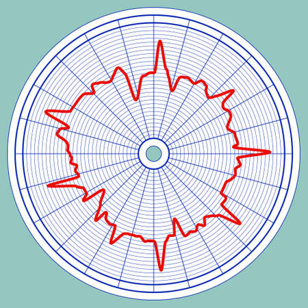 Illustration of the abstract hourly circle diagram Illustration