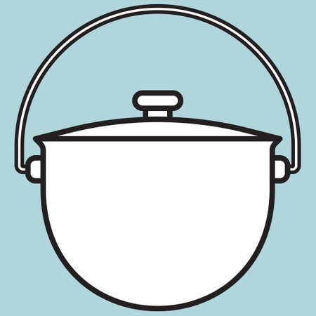 broth: Illustration of the kettle icon Illustration