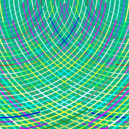 arbitrario: Modelo abstracto de las líneas al azar en forma de arco