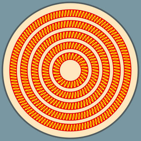 Illustration of the round glowing spiral heater Illustration