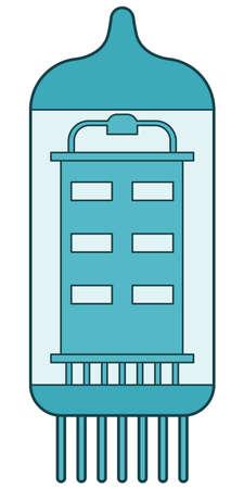 radio unit: Illustration of the electron tube icon