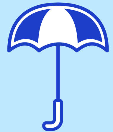 Illustration of the flat umbrella icon